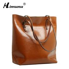 Big Bag Women Handbags Genuine Leather Oil Wax Cowhide Handbags Lady Real Leather shoulder Messenger Bags Generous Fashion Bag(China (Mainland))