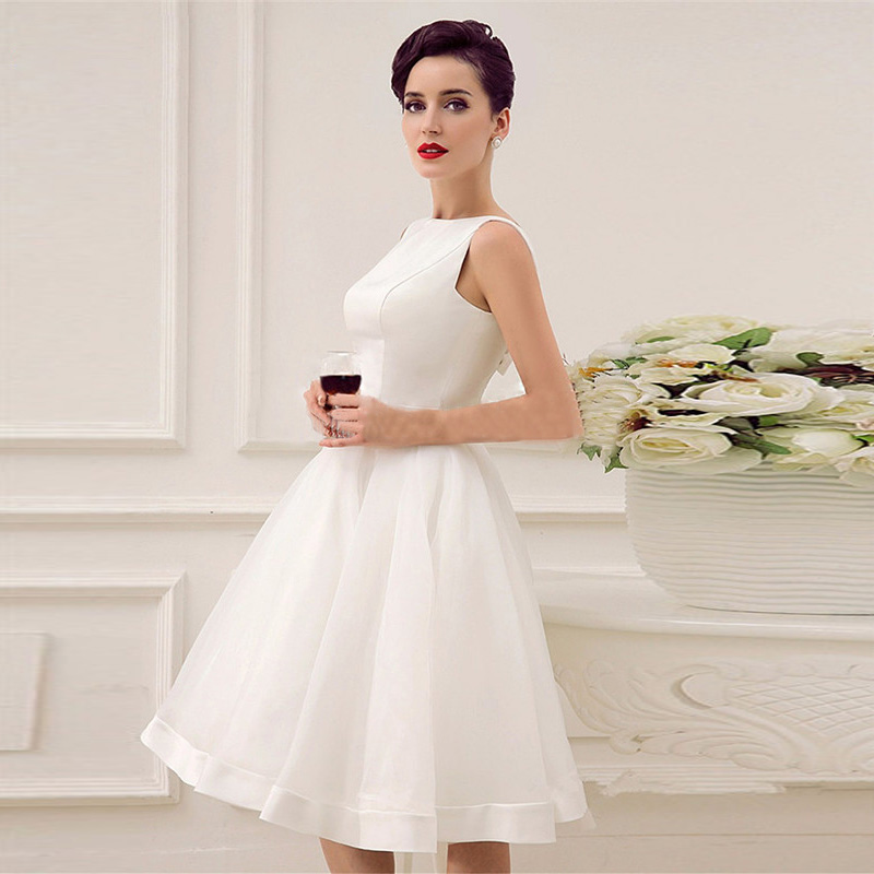 Short White Satin Dress Promotion-Shop for Promotional Short White ...