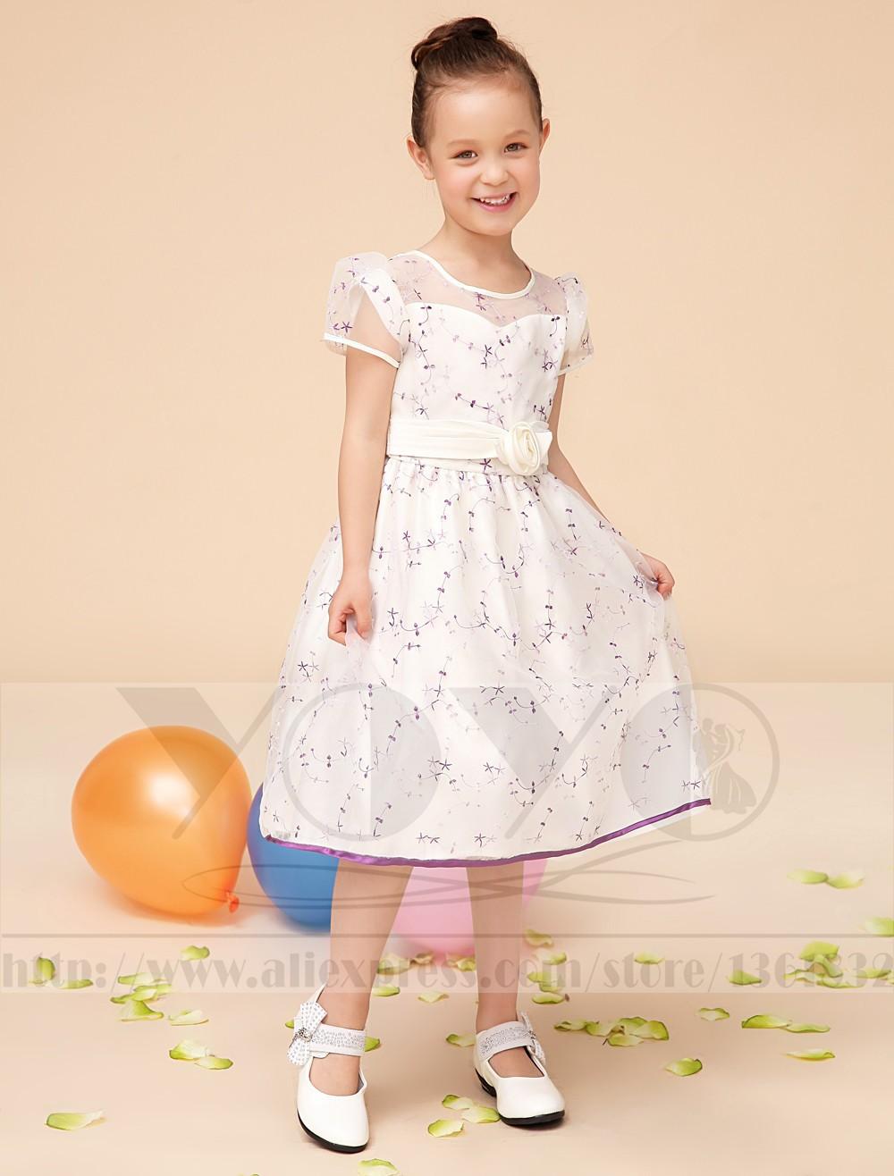 Скидки на Элегантный дань шелка и вышивка кот детей платья с створки девушки дети формальные торжества платья