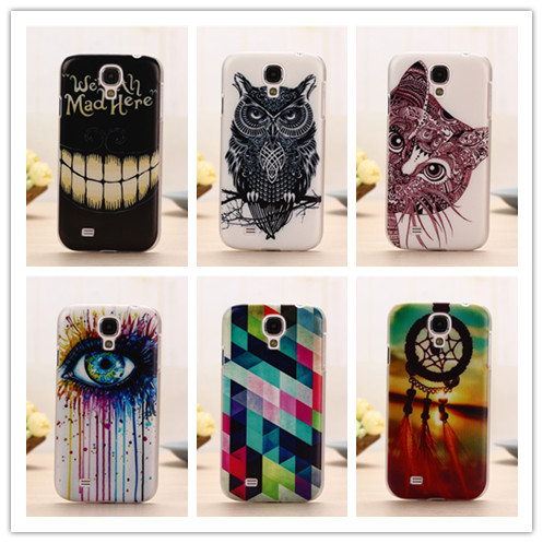 Fashion Pattern Style Cover Case For Samsung Galaxy S4 i9500 SV Mobile Phone Hard Plastic Back Cases PY(China (Mainland))
