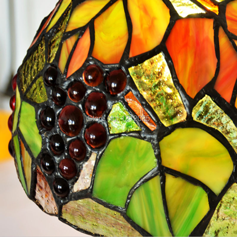 sales tiffany style stained glass grape table lamp bedside desk. Black Bedroom Furniture Sets. Home Design Ideas