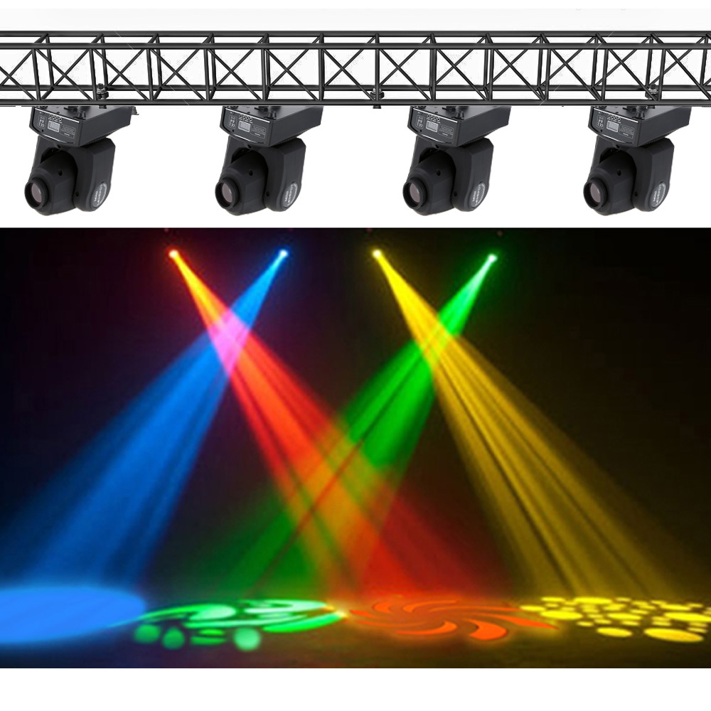 DMX-512 Mini Moving Head Light RGBW LED Stage PAR Light with Shapes Automatic Professional 9/11 Channel Party Disco Show(China (Mainland))