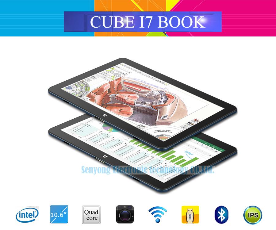 New Arrival 10.6'' Cube I7 Book Windows 10 Tablet PC IPS 1920x1080 Intel Core M3-6Y30(Skylake) Dual Core 4GB/64GB Camera Type C(China (Mainland))