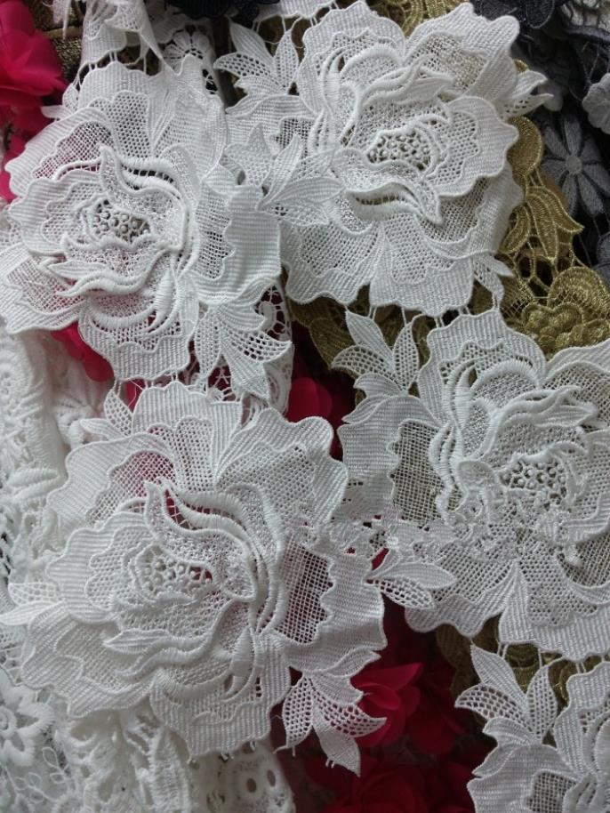 15yard 16cm flower guipure lace fabric for wedding dresses for Bridal fabric