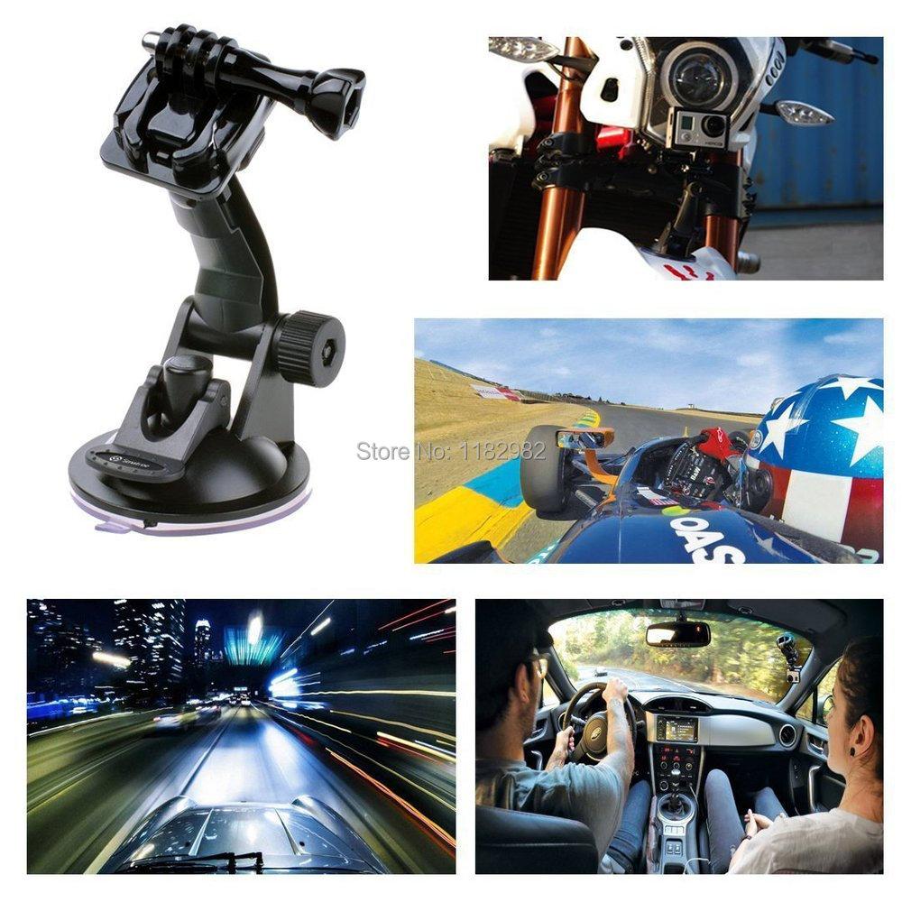 3in1 1 set Camera 10pcs GoPro Car Suction Cup  + 10pcs Buckle Basic Mount + 10pcs Screw for Gopro Hero 2 3 Hero3+ 4 sj4000/5000