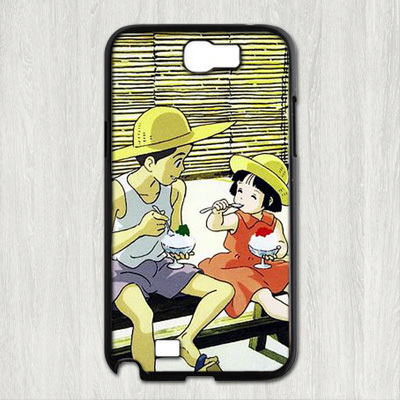 Grave of the Fireflies fashion original cell phone case cover for samsung galaxy note 2 made of the best material ABS(China (Mainland))