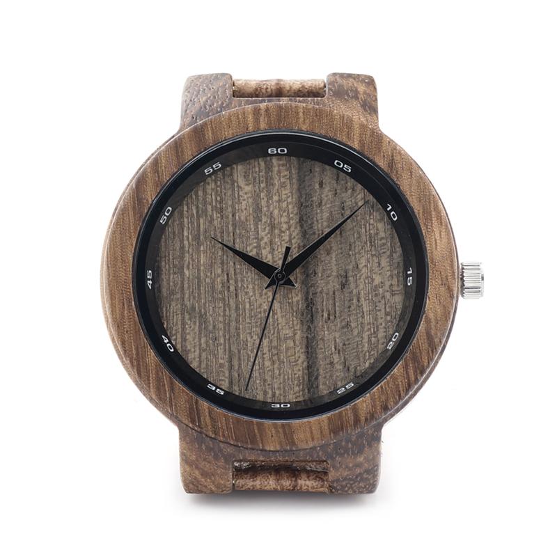 BOBO BIRD D22P Zebra Wood Watch Men Wooden Grain Leather Band Scale Circle Brand Designer Quartz Watches for Men Women Gift Box(China (Mainland))