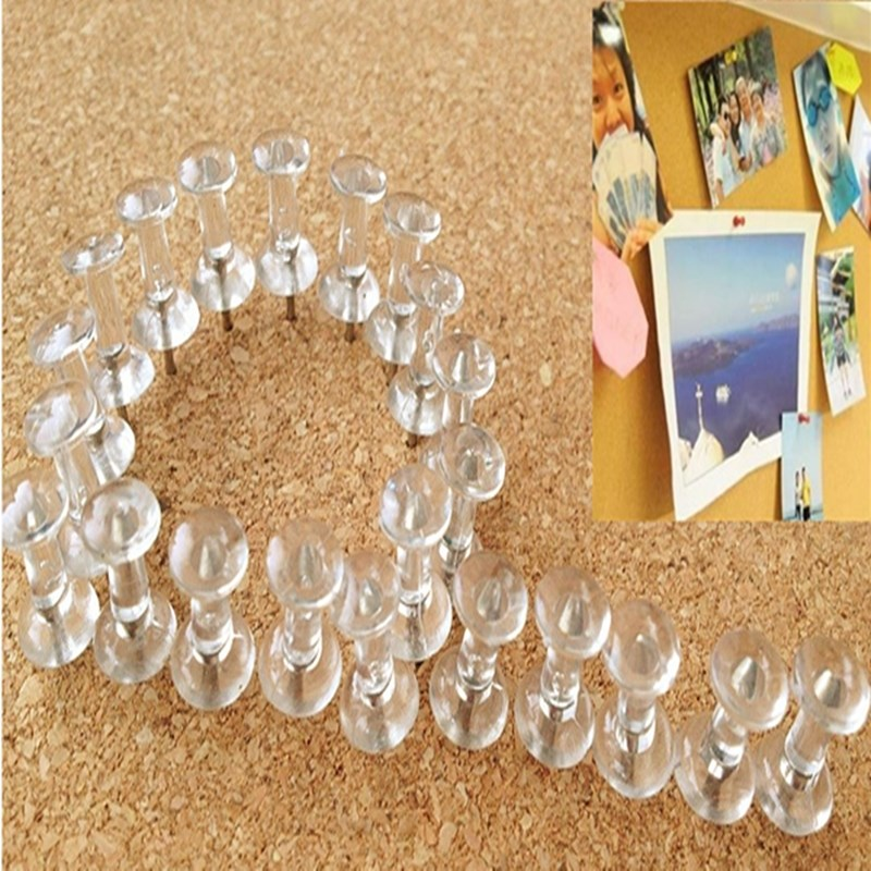 40pcs/lot New Arrival Best Price Transparent Decorative Push Pins Thumbtacks Steel Point Bulletin Board Office School(China (Mainland))