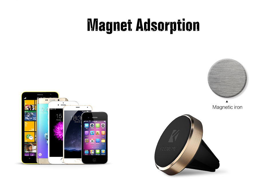 FLOVEME Universal Magnetic Car Phone Holder For iPhoneSamsung Huawei Xiaomi Accessories Mini Air Vent Outlet Mount Kickstand