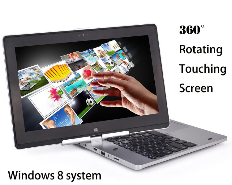 Ultrabook 11.6 inch 2 in 1 laptop tablet windows 8 pc,rotating touching screen with 2gb+320gb wifi bluetooth computer notebook(China (Mainland))