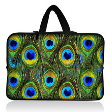 """Buy Peacock Feather 15"""" 15.4"""" 15.5"""" 15.6"""" Laptop Neoprene Soft Sleeve Bag Case Cover+ Hide Handle Acer Dell HP Sony ASUS for $11.89 in AliExpress store"""
