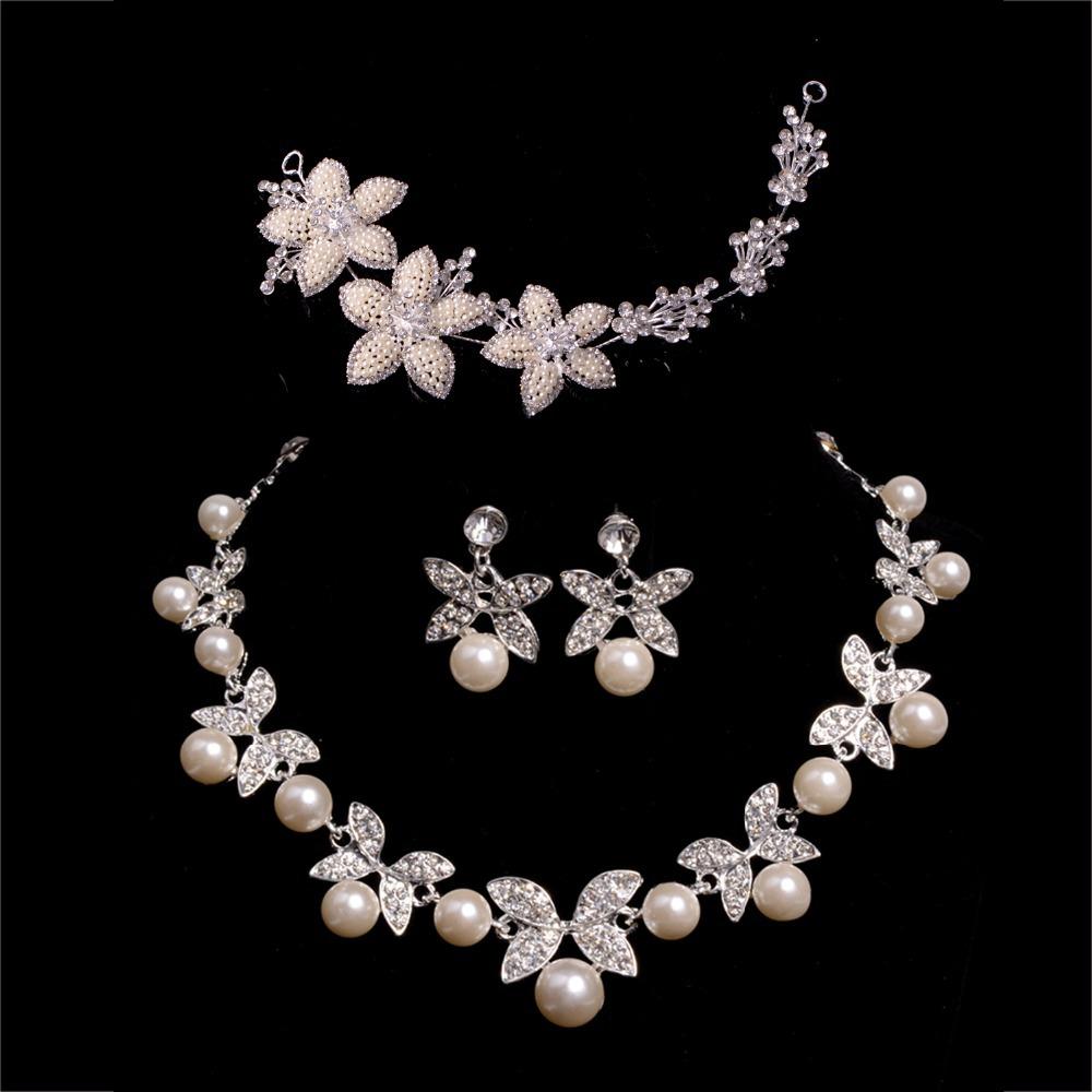 2015 fashion rhinestone jewelry sets necklace earrings