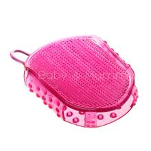 Soft Cellulite Body Scrub Massager Brush Glove Slimming Relaxing Bath Spar Bathing Accessory Body Brush Bath Tool Rose Red(China (Mainland))