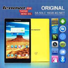 Original Lenovo Tablet S8-50LC 4G LTE 8″ 1920 x1200 IPS Screen Intel Atom Z3745 Quad Core 2GB 16GB Android 4.4 8MP