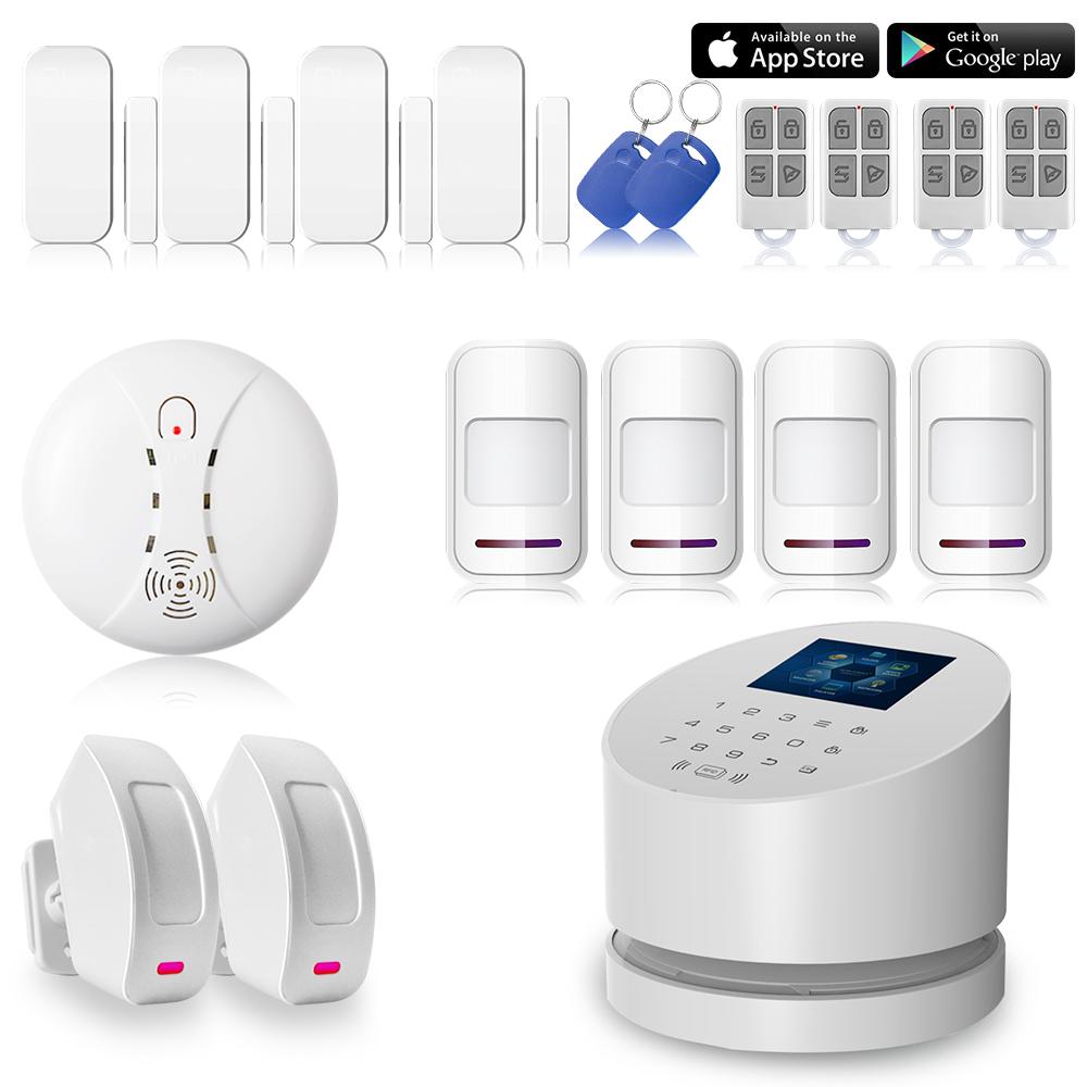 KERUI 226Kit Siren WiFi LCD RFID alarm system Wireless W2 Wifi GSM PSTN line telephone burglar alarm(China (Mainland))