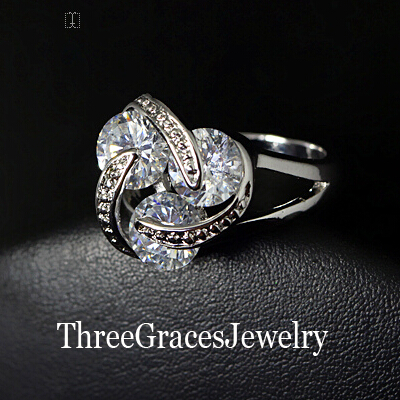 Aliexpress Buy Fashion Women Engagement Jewelry Geometric Imitation Diamond Ladies Party