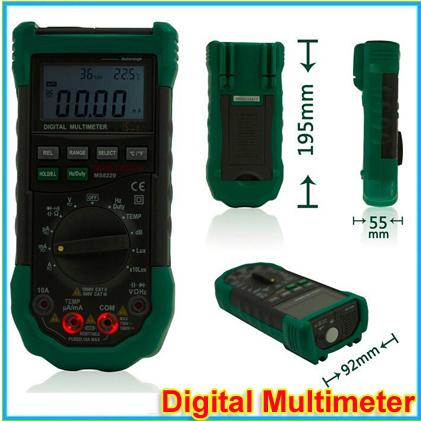 Гаджет  1pc Mastech MS8229 5 in1 Auto range Digital Multimeter Multifunction Lux Sound Level Temperature Humidity Tester Meter None Инструменты