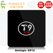 Buy Amlogic S912 Qcta Core T9 TV Box Android 6.0 2G/16G Set Top Box 2.4GHZ 5GHZ Wifi HD 4K 1080P Smart Media Player Set BOX PK T9 for $64.72 in AliExpress store