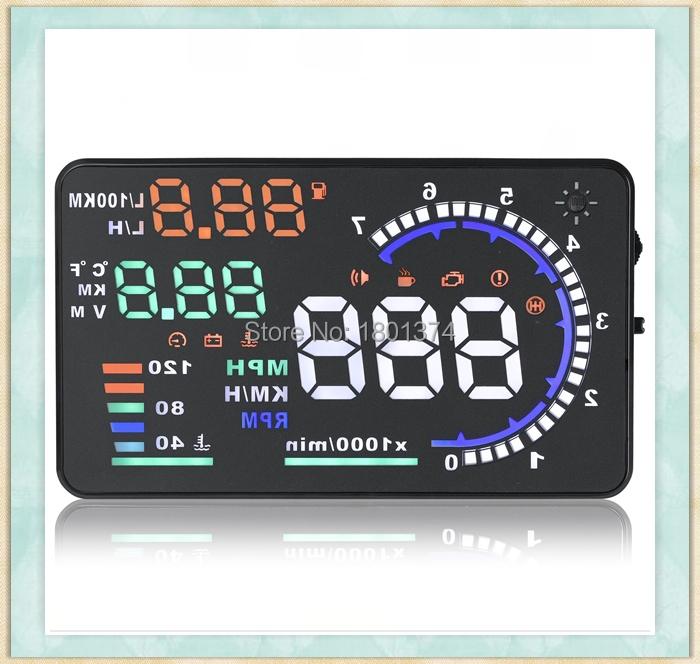 A8 Free Shipping GPS Car HUD Windshield Head Up Display System Universal Overspeed Warning 12V Machine(China (Mainland))