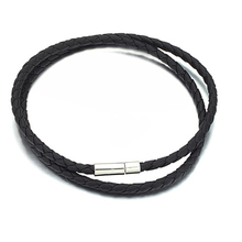 Min.order is $10 (mix order) Free Shipping Wholesale 2013 New HOT Fashion PU leather chain men's Necklace for men/boy GL46