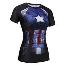 Buy Ladies Comics Marvel Superman Batman/ Wonder Women's Compression Shirts Compression T Shirt Female Fitness Tights Shirts for $6.07 in AliExpress store