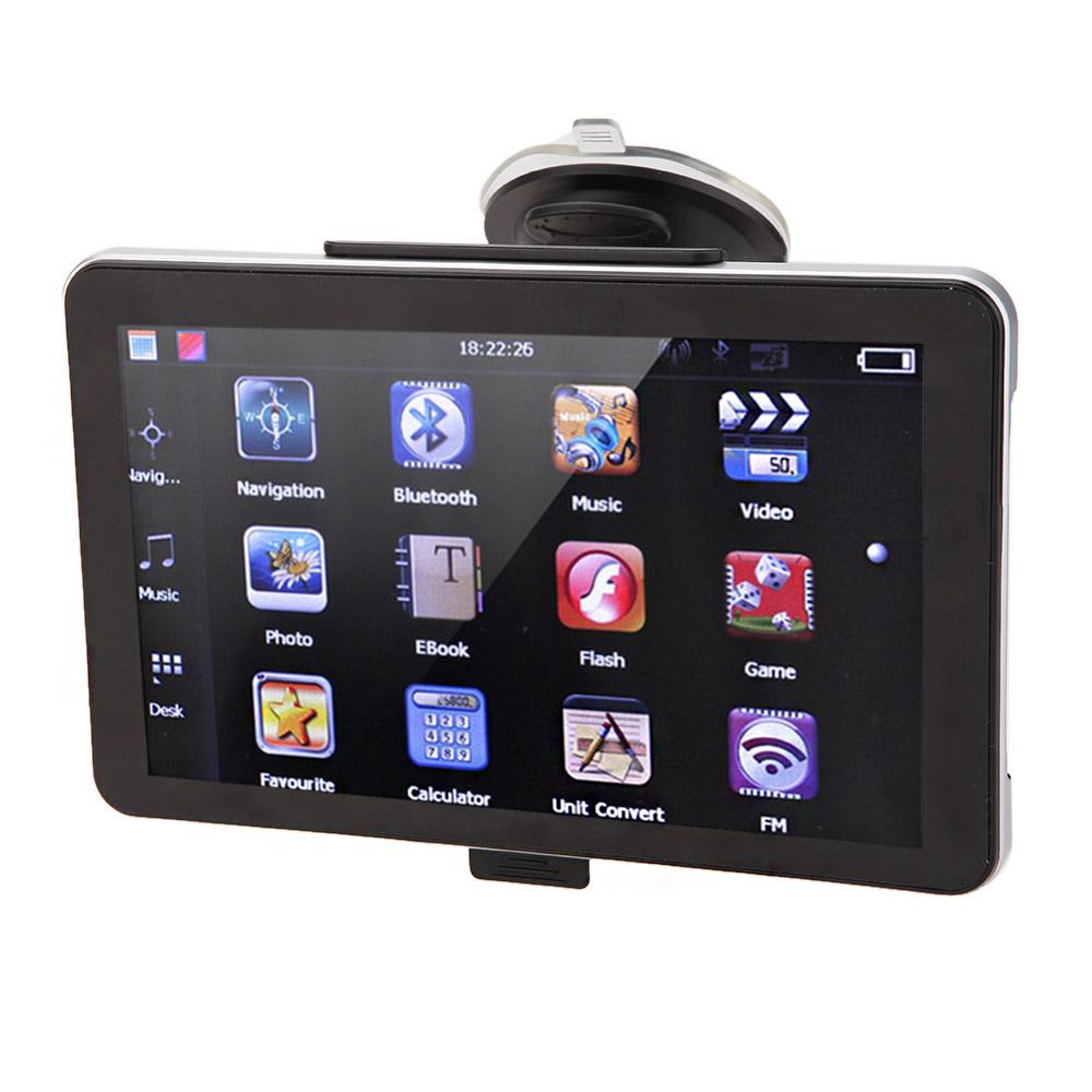 "5"" HD Touch Screen Monitor Portable Car GPS Navigation MTK 128MB RAM 4GB FM Video Play Car Navigator +Free Map + Suction Cup(China (Mainland))"