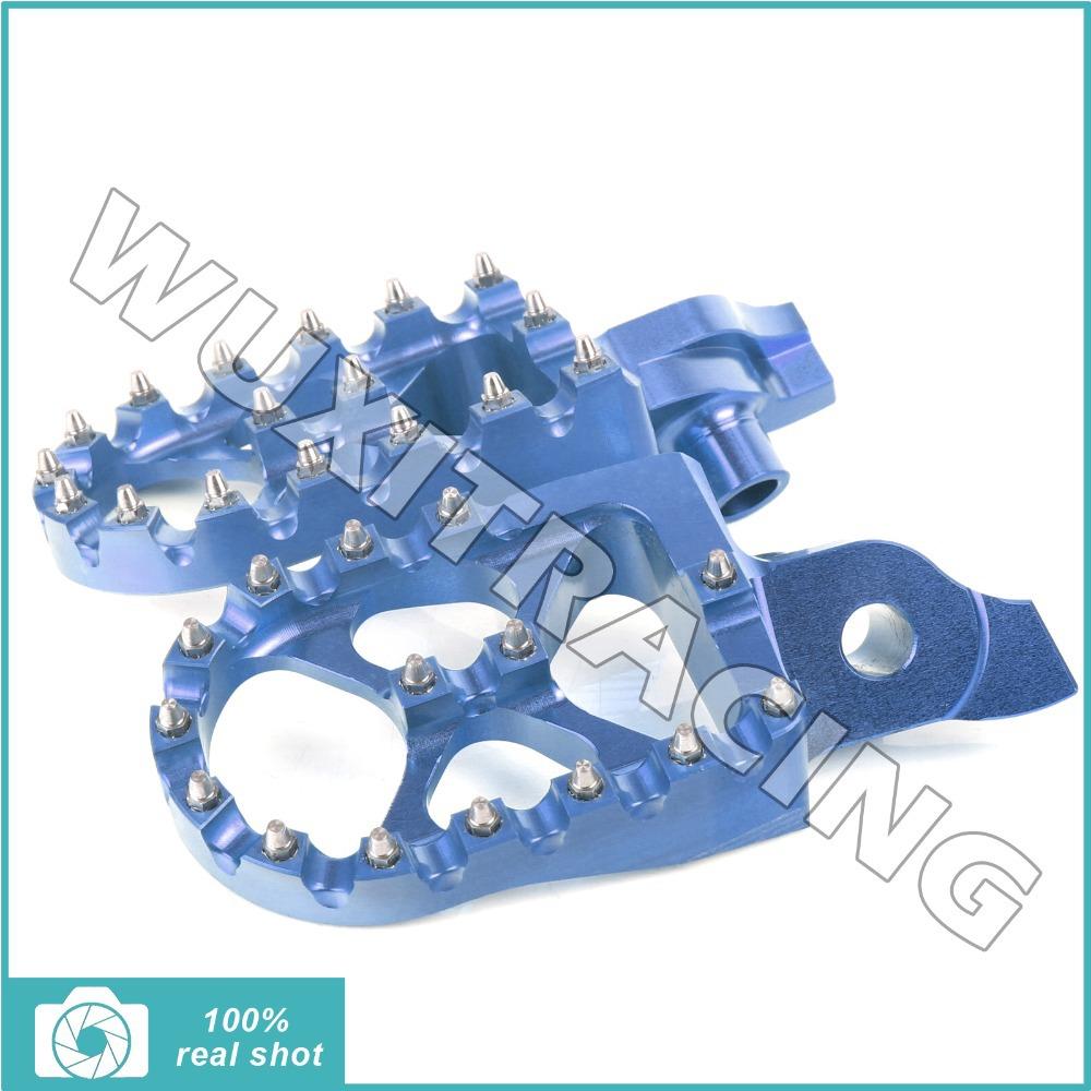 BLUE New CNC Billet MX Motocross Wide Fat Footpegs Footrests for Suzuki RMZ 250 07 08 09 RMZ 450 05 06 07<br><br>Aliexpress