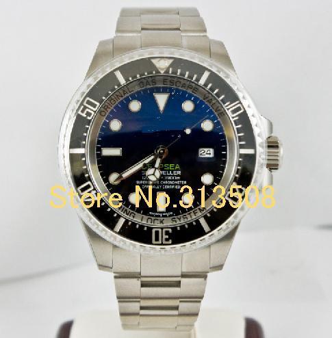 Unused 44mm Deep Sea Dweller 116660 Blue Black Ceramic Bezel Automatic Men's Watch Stainless Steel Bracelet Mens Sport Watches(China (Mainland))