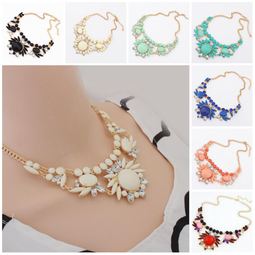 The new fashion women sweet ethnic wind lady hybrid crystal  irregular short bubble necklace(China (Mainland))