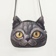 new style women handbags 3D Animal Printing Shoulder Bag cute cat lady womens bag over the shoulder bag crossbody bags for women