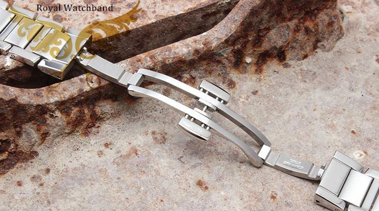 Мужская прямой конец нержавеющей стали часы группы 16 мм ( серебро )