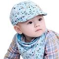 New cartoon baby hat kids hat Winter children scarf collar panda cat print Spring Autumn infant hats set boys girls baby caps