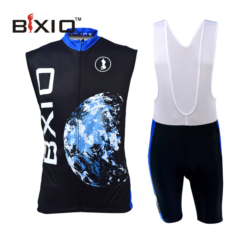 BXIO Brand Pro Cycling Jersey Set Mountain Bike Jerseys Abbigliamento Ciclismo Estivo 2016 Sleeveless Raiders Jersey BX-0309H055(China (Mainland))