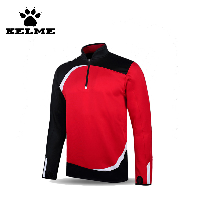 Kelme 2016 China Soccer Tracksuit Quality Double Stand Collar Long Sleeve Polyester Spandex Quick Dry Survetement Football 63(China (Mainland))
