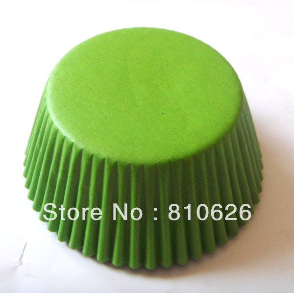 Free Shipping 100pcs Solid Green cupcake Liners Baking Cup Cake Paper Cup Mold muffin cases Cake Tool decoration(China (Mainland))