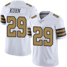 Men's #29 John Kuhn Elite White Rush Jersey 100% Stitched(China (Mainland))