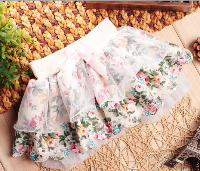Wholesale - Summer kids clothing chidren's skirt girl floral skit lace skirt free shipping(China (Mainland))