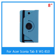 2015 Luxury 360 Degree Rotating Leather Stand Case Cover For Acer Iconia Tab 8 W1-810 8inch +Free Stylus