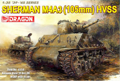 [Dragon] Plastic Model Kit 1/35 M4A3 105mm HVSS (6354)(China (Mainland))