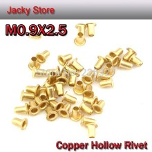 FREE SHIPPING 1000pcs/lot High Quality M0.9(d)*2.5(L)mm0.9mm Brand Copper Hollow Rivet Double-sided Circuit Board PCB Vias Nails(China (Mainland))