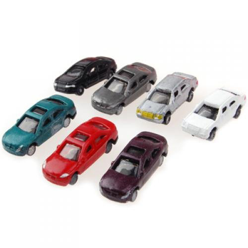 FJS! 100pcs Painted Model Cars Building Train Layout Scale N Z (1 to 200) C200-4(China (Mainland))
