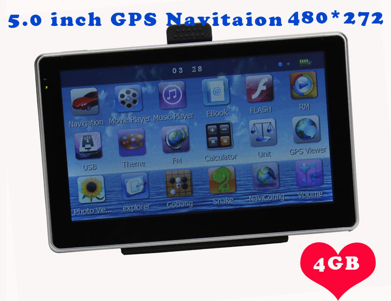 5 Inch Auto Car GPS Navigation Sat Nav 4GB 2014 New Map WinCE 6.0 FM Multi-languages,NavitelRussia/Belarus/europe/South american(China (Mainland))