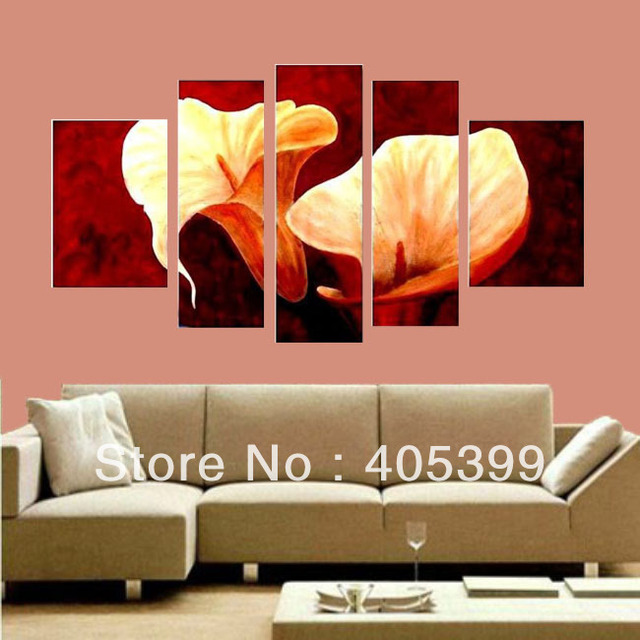 Flower in Blossom Happily ,Modern Wall Art Abstract Oil Painting On Canvas Free Shipping   JYJZ035