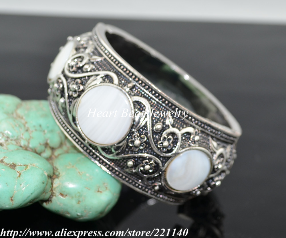 , Hot sale,Trendy Shell Turquoise Bangle - HeartBeat Online shop store