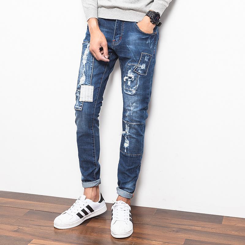 Online Get Cheap Fashion Korean Men Slim Skinny Jeans Pencil Pants ...