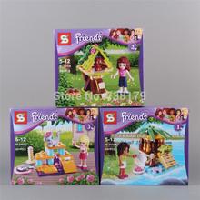 3PCS/LOT SY151 Girl Friends Building Blocks Sets Minifigure DIY Bricks Building Blocks Toys PVC Action Mini Figures Toys(China (Mainland))