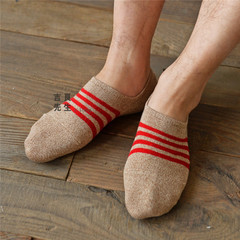 5 pair summer new male socks Japanese lines ship socks breathable absorbent cotton stripe invisible socks for men weed socks(China (Mainland))