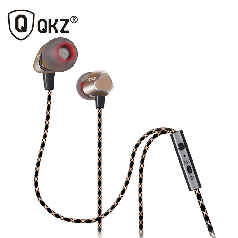 Free shipping KZ-ED8M enthusiast bass ear headphones copper forging 7MM shocking anti-noise microphone sound quality