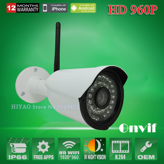 HD 960P 1.3MP CCTV Wireless Surveillance IP Camera WIFI H.264 Video Compression Outdoor For Home Security Monitoring System(China (Mainland))