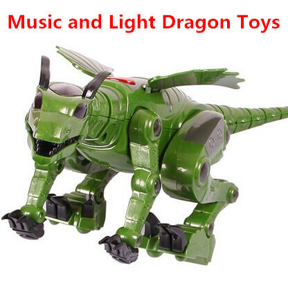 music&light electric model toys for children classic kids toys educational plastic action figures toys big dragons animal toys(China (Mainland))